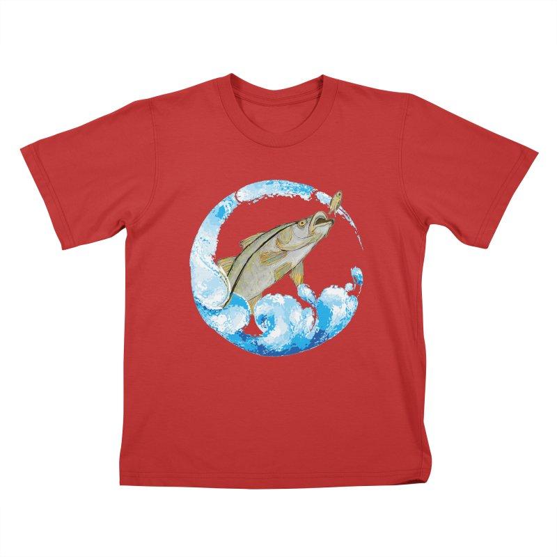 Leaping Snook Kids T-Shirt by designsbydana's Artist Shop