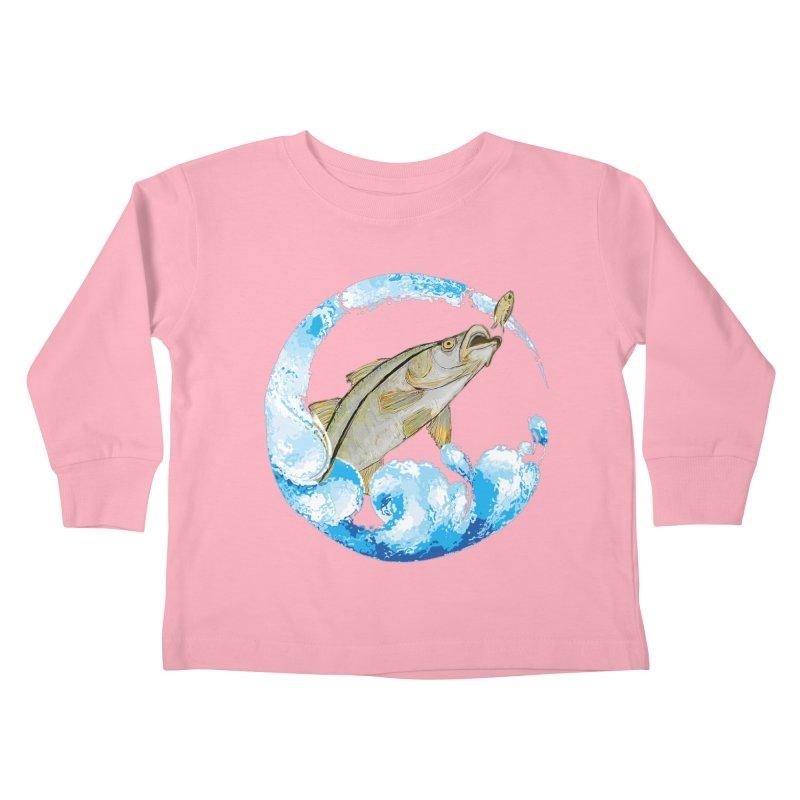 Leaping Snook Kids Toddler Longsleeve T-Shirt by designsbydana's Artist Shop