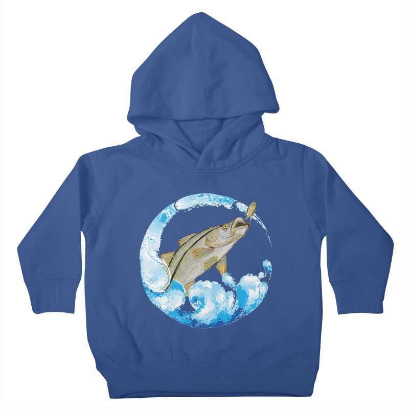 Leaping Snook Kids Toddler Pullover Hoody by designsbydana's Artist Shop