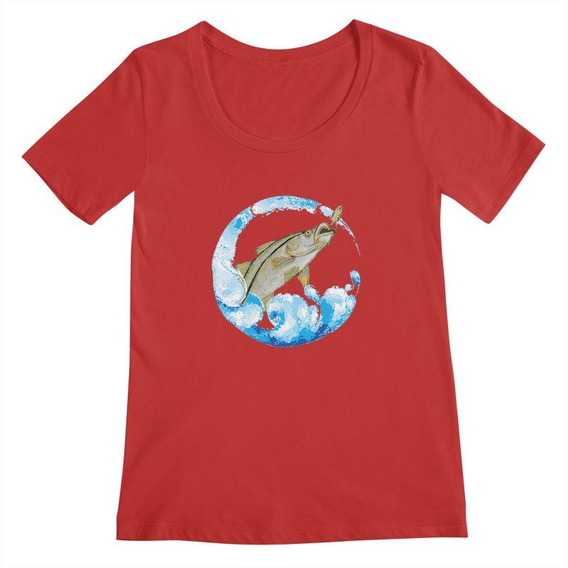 Leaping Snook Women's Regular Scoop Neck by designsbydana's Artist Shop