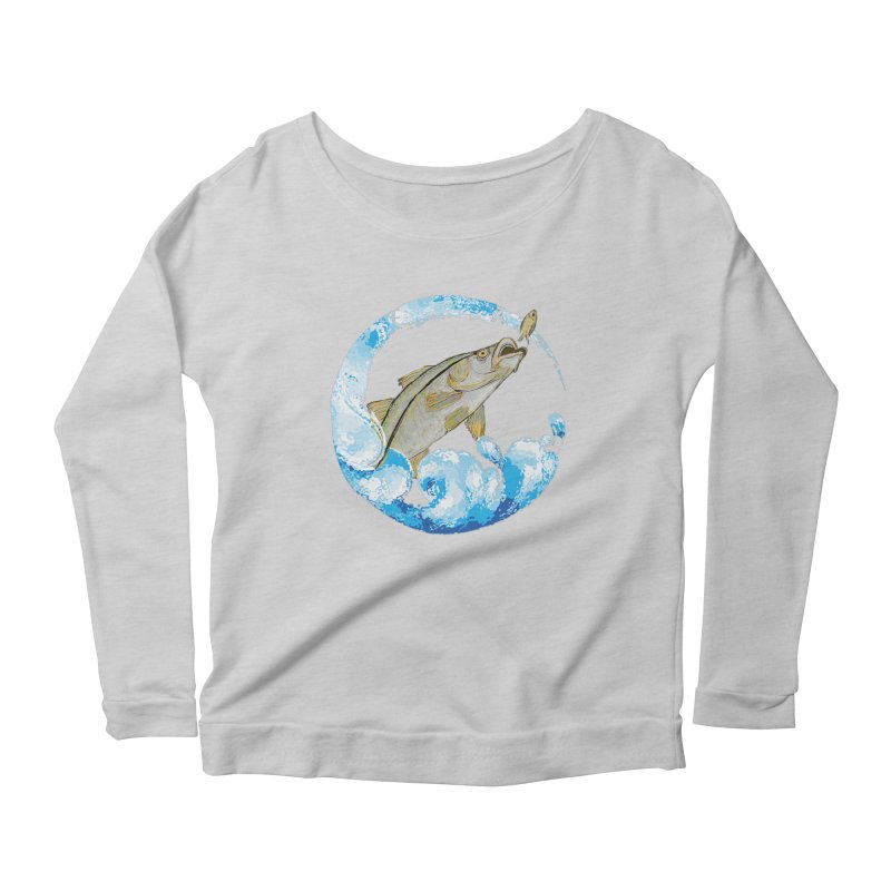 Leaping Snook Women's Scoop Neck Longsleeve T-Shirt by designsbydana's Artist Shop