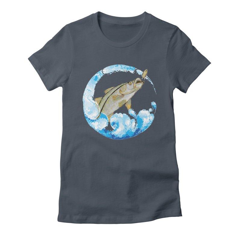 Leaping Snook Women's T-Shirt by designsbydana's Artist Shop
