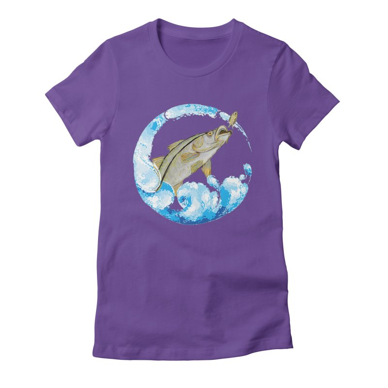 Leaping Snook Women's Fitted T-Shirt by designsbydana's Artist Shop
