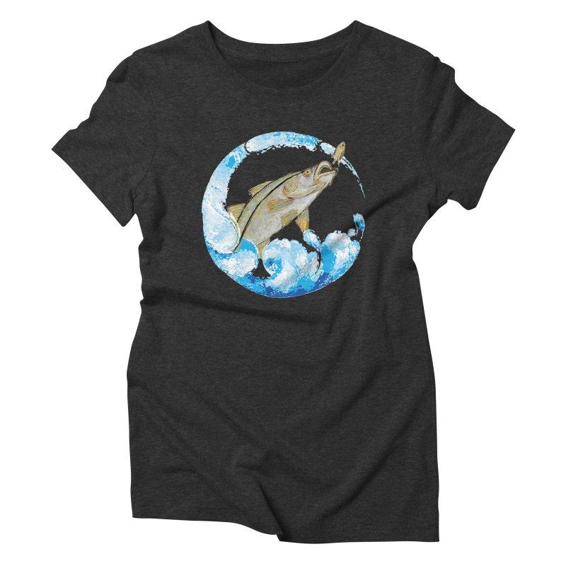 Leaping Snook Women's Triblend T-Shirt by designsbydana's Artist Shop