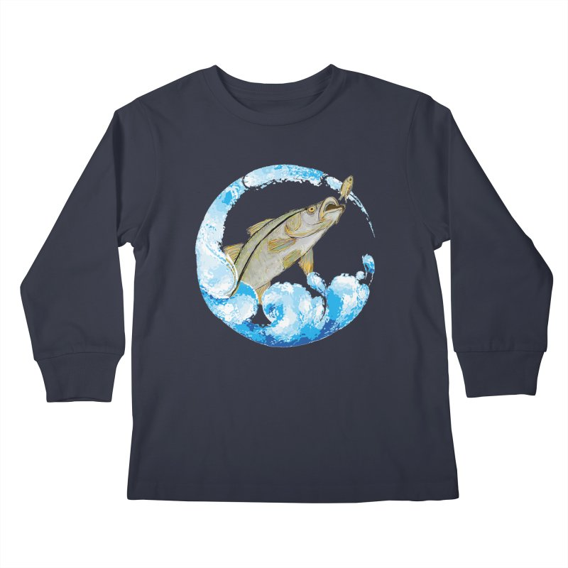 Leaping Snook Kids Longsleeve T-Shirt by designsbydana's Artist Shop