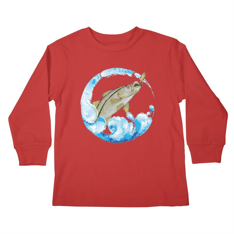 Leaping Snook Kids Longsleeve T-Shirt by designsbydana's Artist Shop