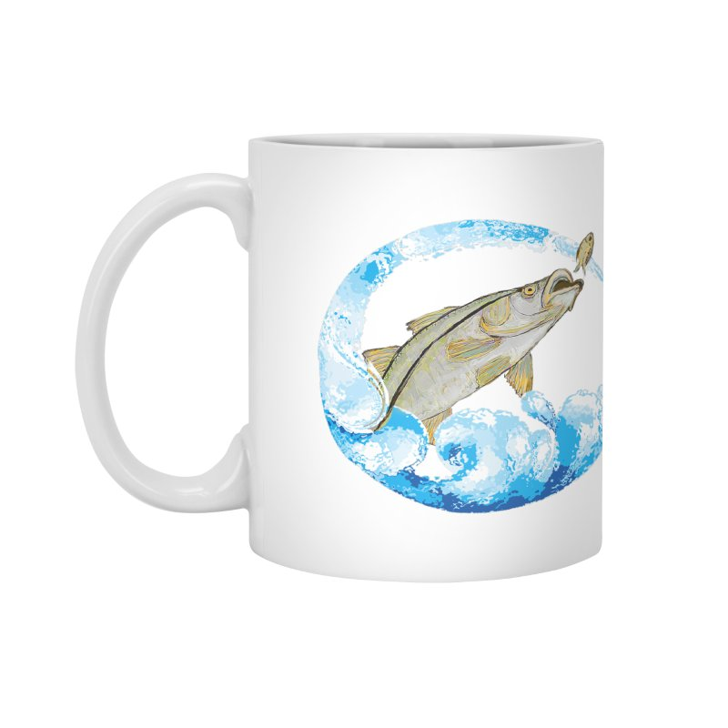 Leaping Snook Accessories Mug by designsbydana's Artist Shop