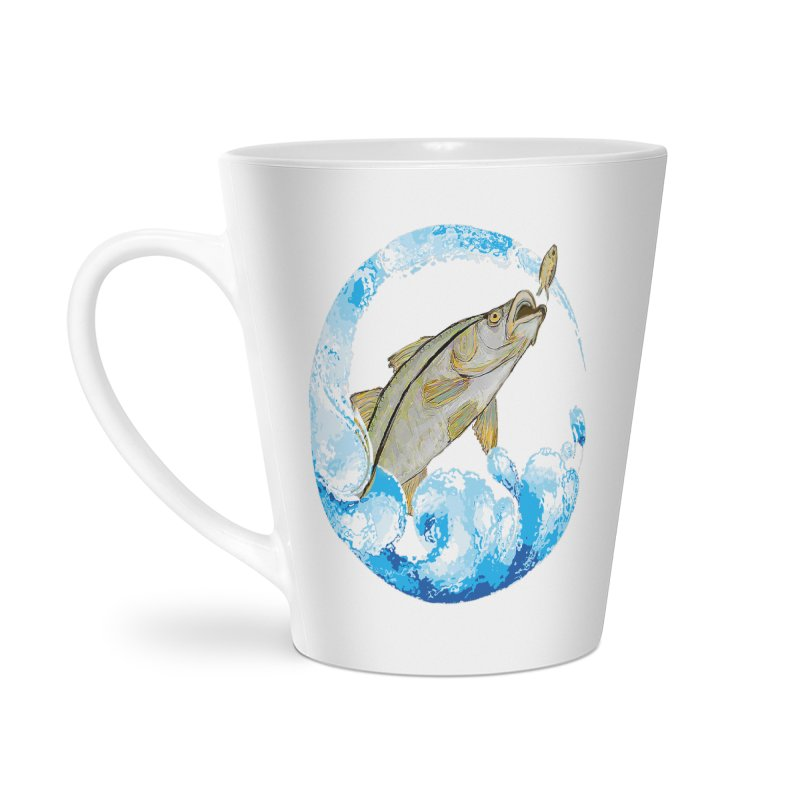 Leaping Snook Accessories Latte Mug by designsbydana's Artist Shop