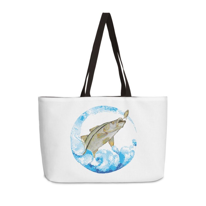 Leaping Snook Accessories Weekender Bag Bag by designsbydana's Artist Shop