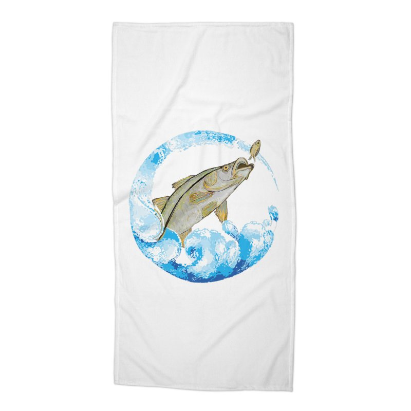 Leaping Snook Accessories Beach Towel by designsbydana's Artist Shop
