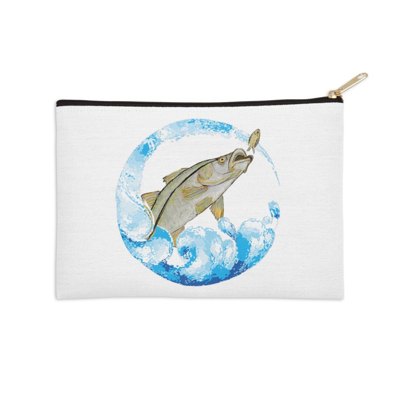 Leaping Snook Accessories Zip Pouch by designsbydana's Artist Shop