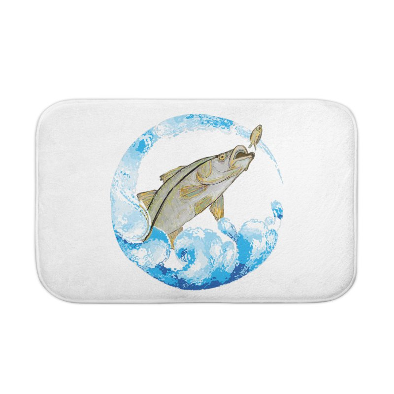 Leaping Snook Home Bath Mat by designsbydana's Artist Shop