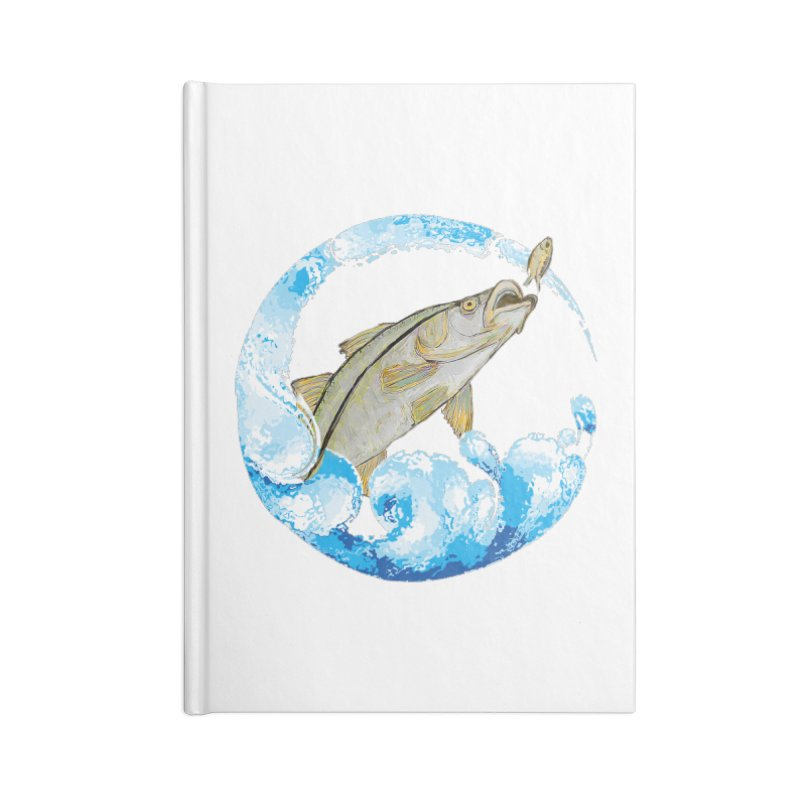 Leaping Snook Accessories Lined Journal Notebook by designsbydana's Artist Shop