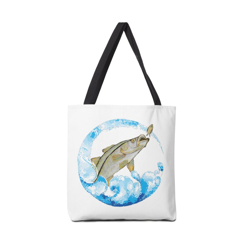 Leaping Snook Accessories Tote Bag Bag by designsbydana's Artist Shop