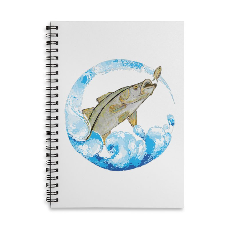 Leaping Snook Accessories Lined Spiral Notebook by designsbydana's Artist Shop