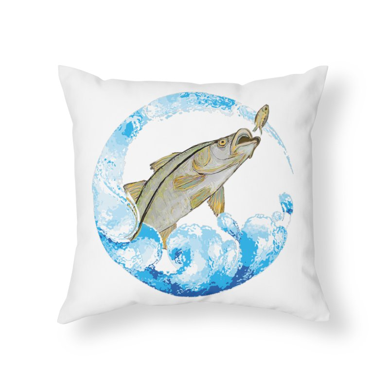 Leaping Snook Home Throw Pillow by designsbydana's Artist Shop