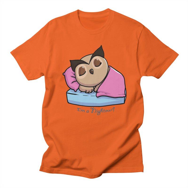 I'm a nightowl! Men's T-shirt by Nightowl Designs's Artist Shop