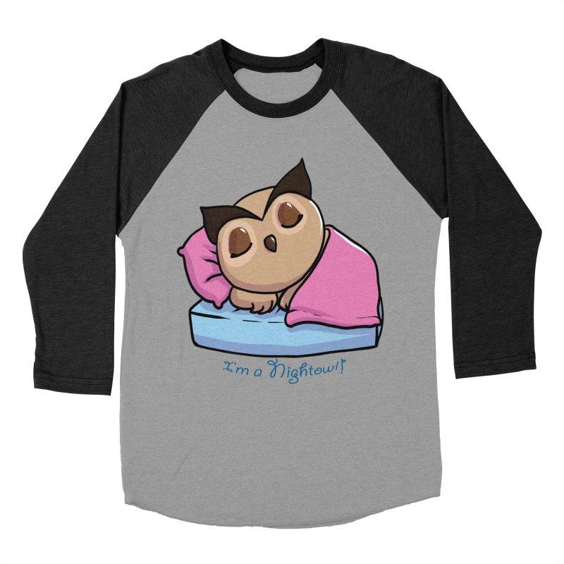 I'm a nightowl! Men's Baseball Triblend T-Shirt by Nightowl Designs's Artist Shop