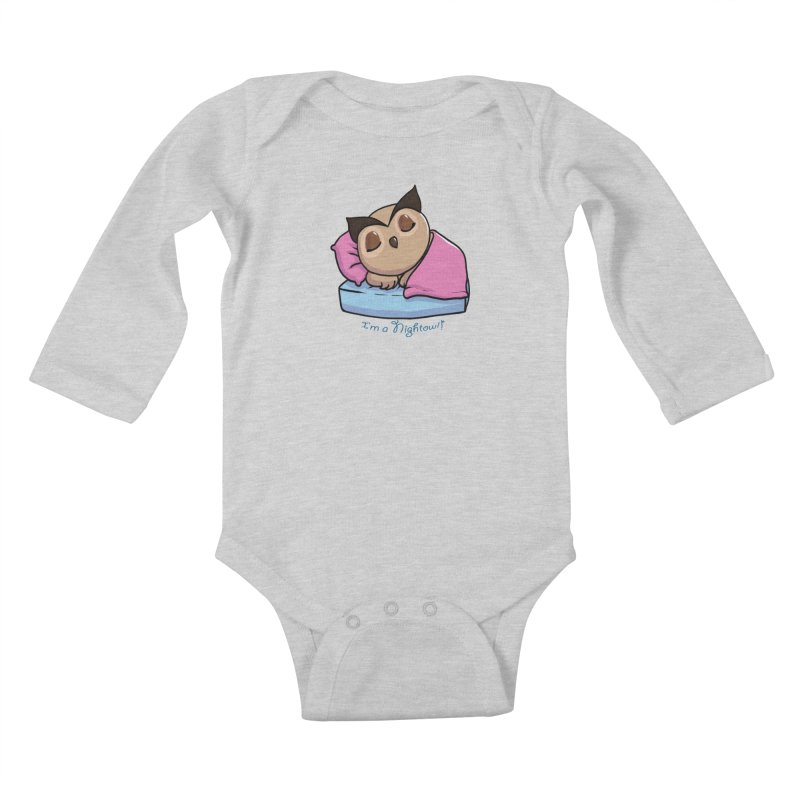 I'm a nightowl! Kids Baby Longsleeve Bodysuit by Nightowl Designs's Artist Shop