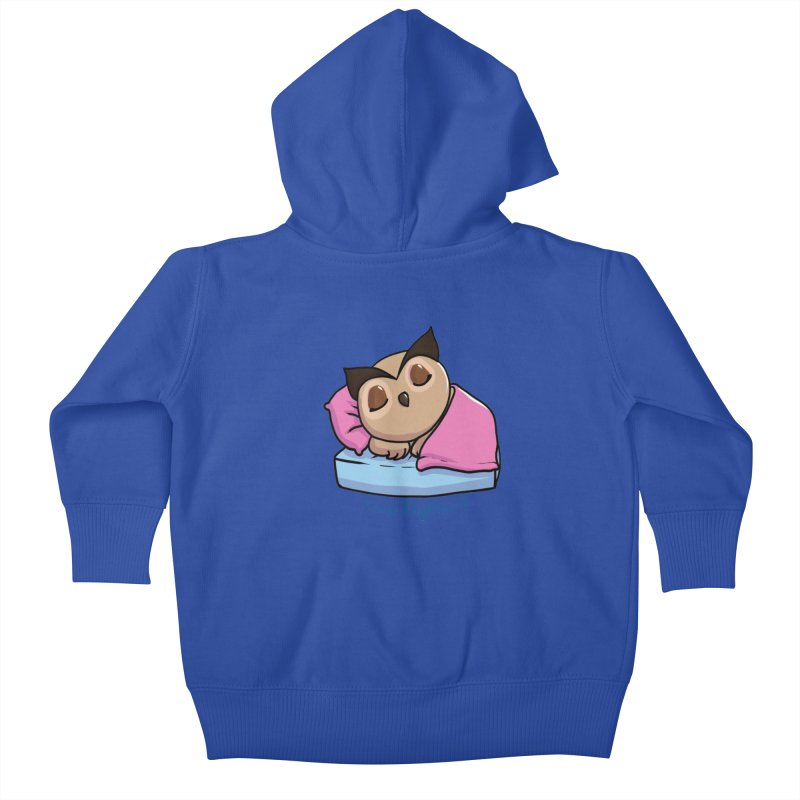 I'm a nightowl! Kids Baby Zip-Up Hoody by Nightowl Designs's Artist Shop