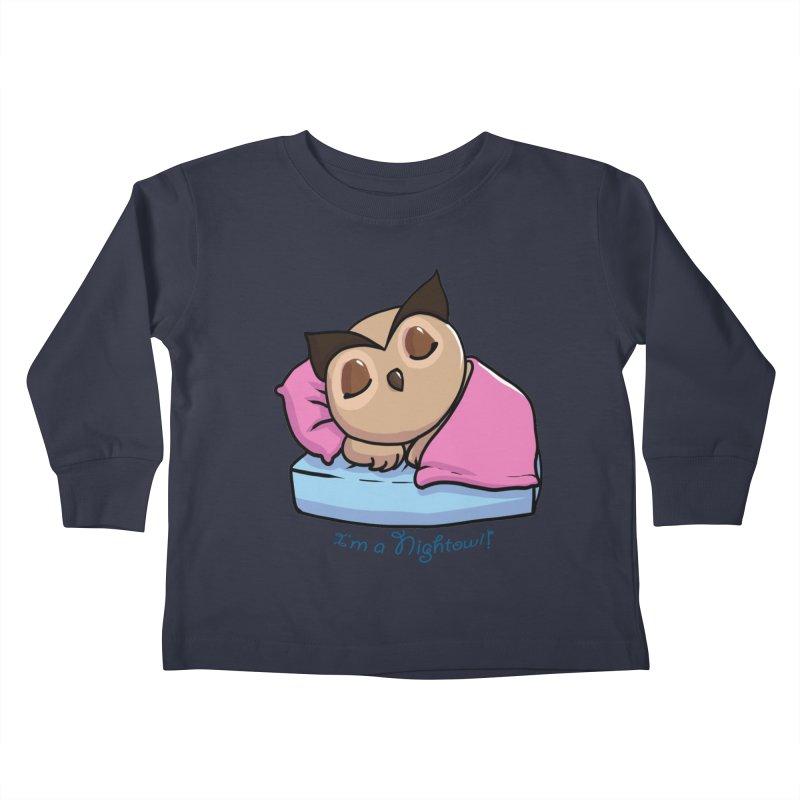 I'm a nightowl! Kids Toddler Longsleeve T-Shirt by Nightowl Designs's Artist Shop