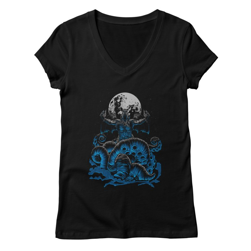 Nyarlathotep Women's V-Neck by DesignsbyReg