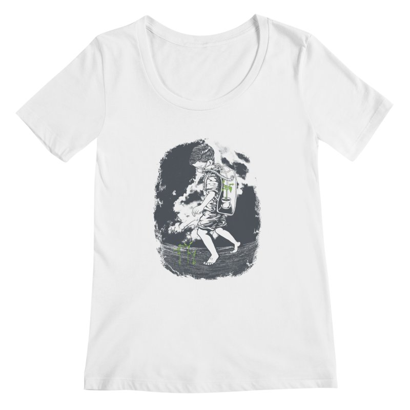 Before it's too late... Women's Scoopneck by DesignsbyReg