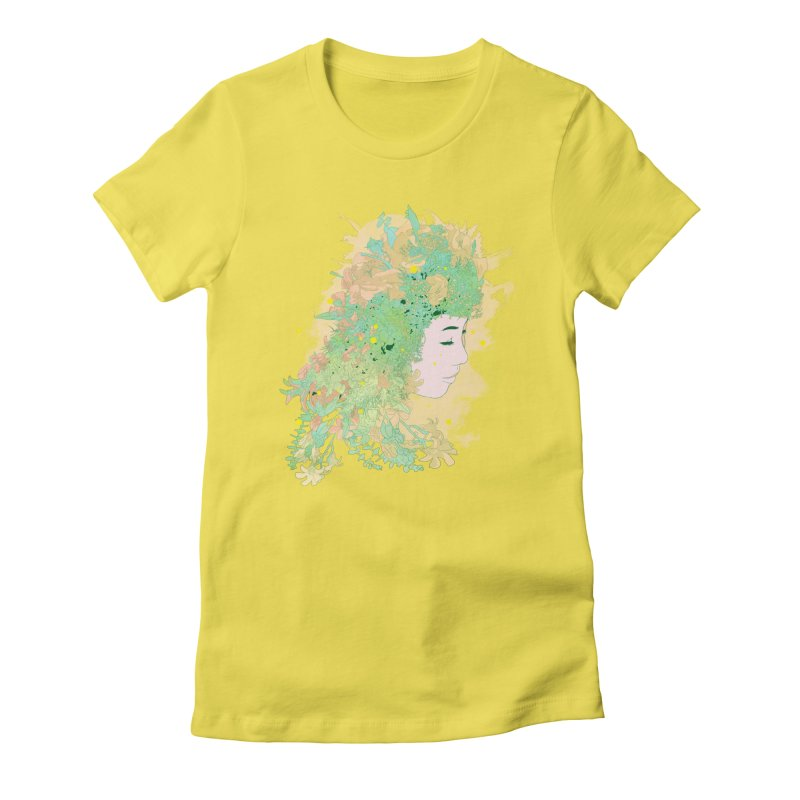 Lovely Women's Fitted T-Shirt by DesignsbyReg