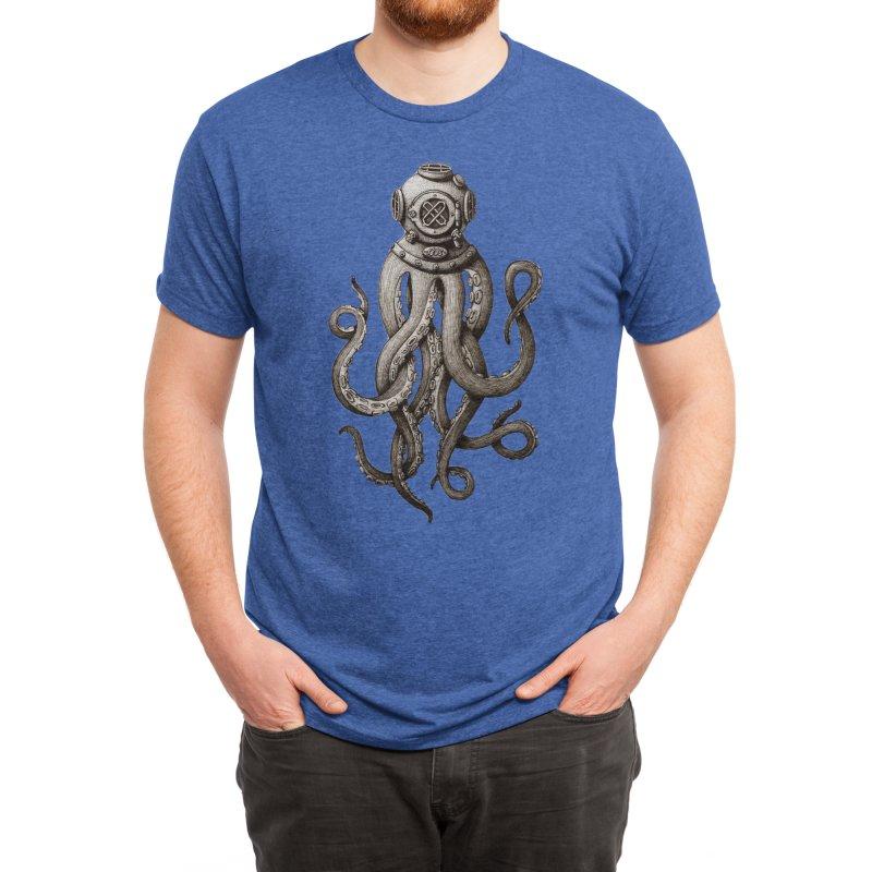 Retro SCUBA Diver Weird Octopus Men's T-Shirt by Designsonoma's Artist Shop