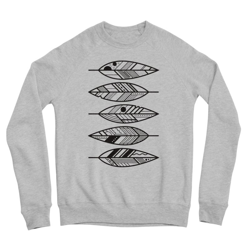 Geometric Feathers Men's Sponge Fleece Sweatshirt by Dave Watkins