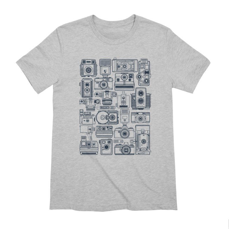 Camera Collector in Men's Extra Soft T-Shirt Heather Grey by Dave Watkins