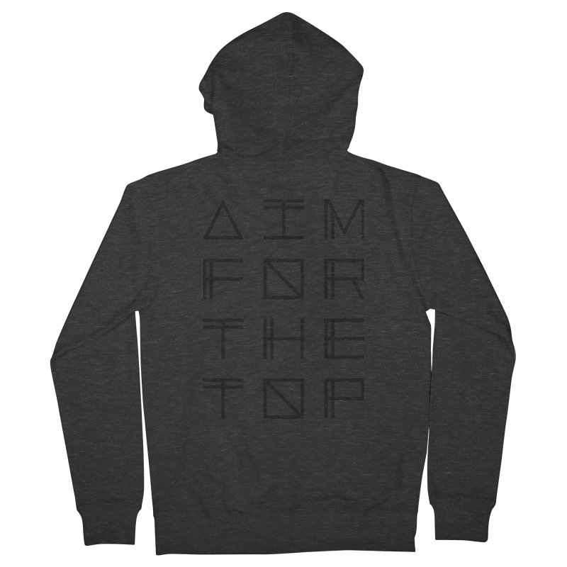 AIM FOR THE TOP Women's French Terry Zip-Up Hoody by Dave Watkins