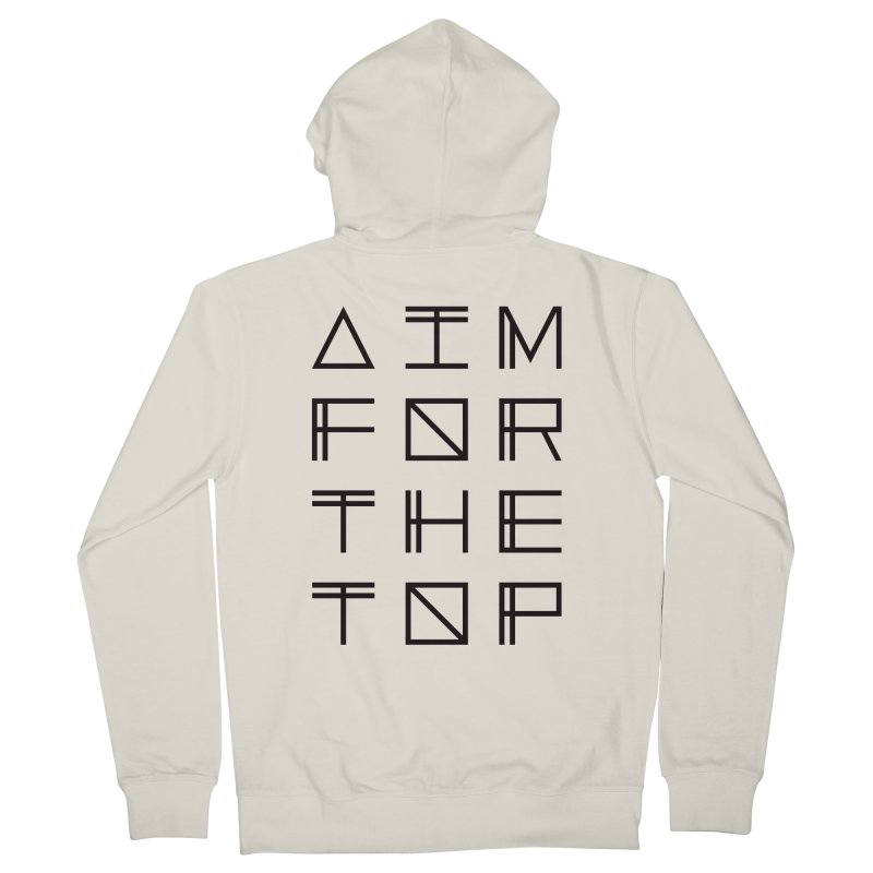 AIM FOR THE TOP Men's French Terry Zip-Up Hoody by Dave Watkins