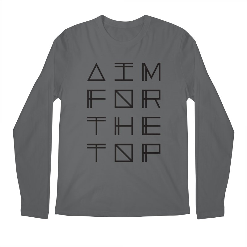 AIM FOR THE TOP Men's Regular Longsleeve T-Shirt by Dave Watkins