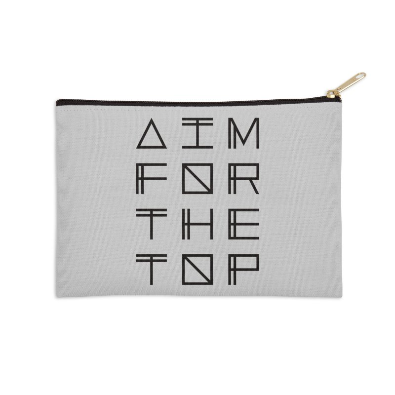 AIM FOR THE TOP Accessories Zip Pouch by Dave Watkins