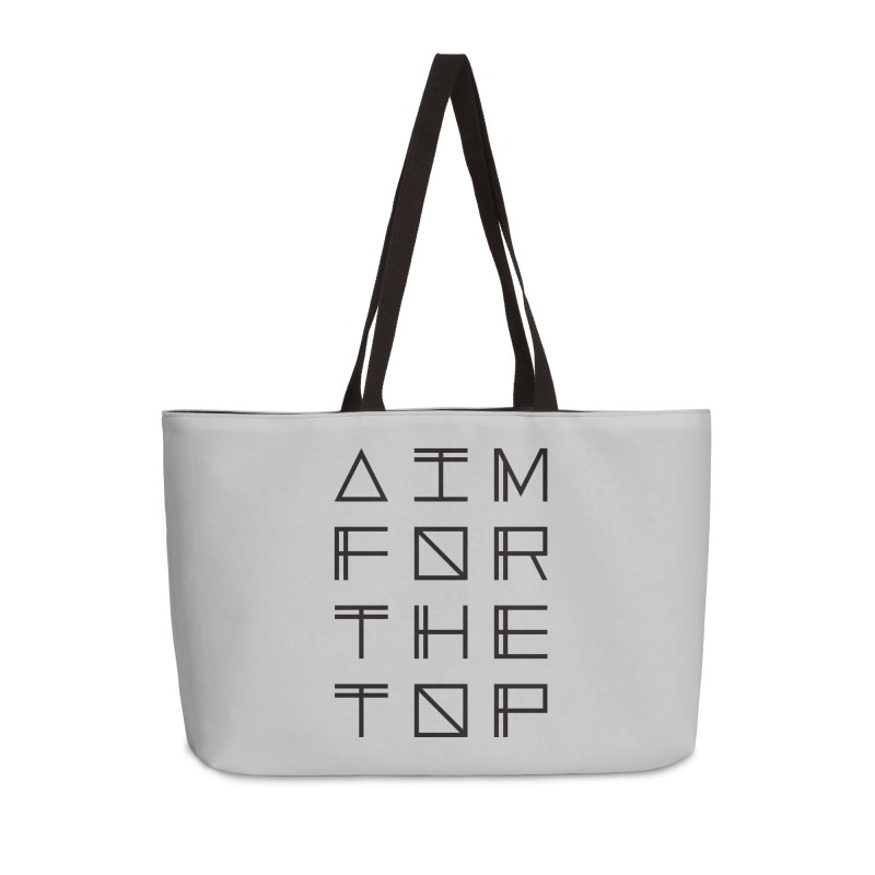 AIM FOR THE TOP Accessories Weekender Bag Bag by Dave Watkins