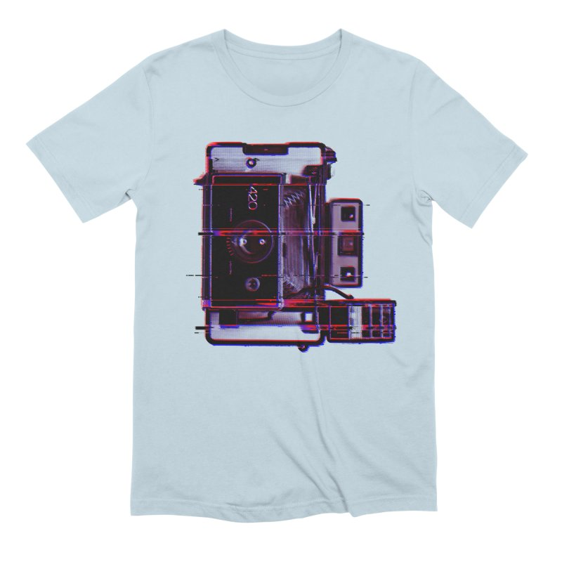 CAMERA GLITCH in Men's Extra Soft T-Shirt Baby Blue by Dave Watkins