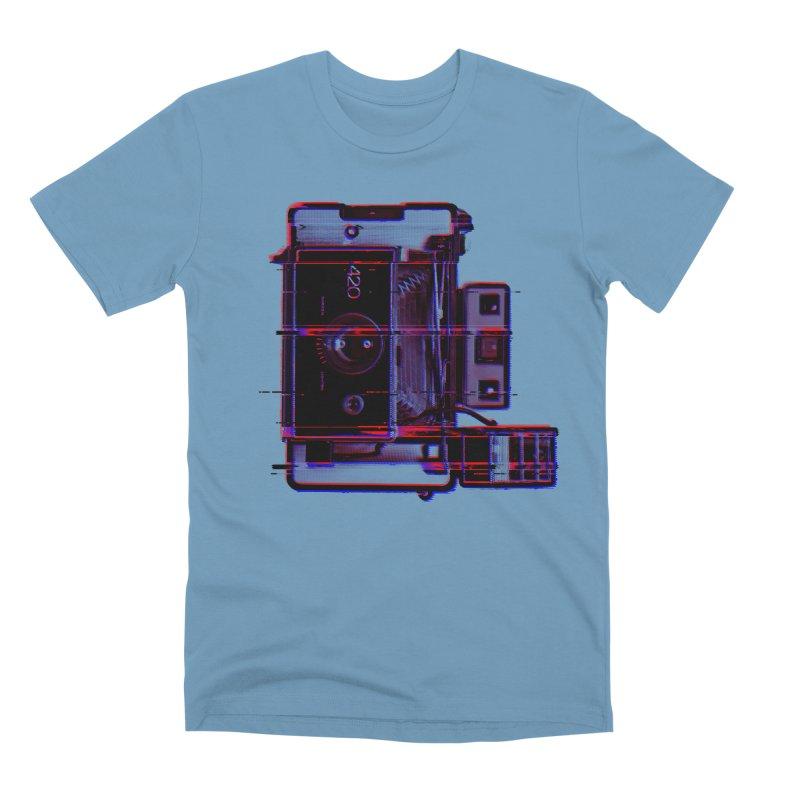 CAMERA GLITCH Men's Premium T-Shirt by Dave Watkins