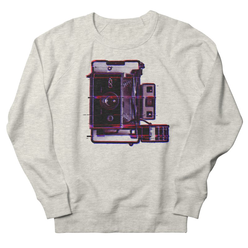 CAMERA GLITCH Men's French Terry Sweatshirt by Dave Watkins