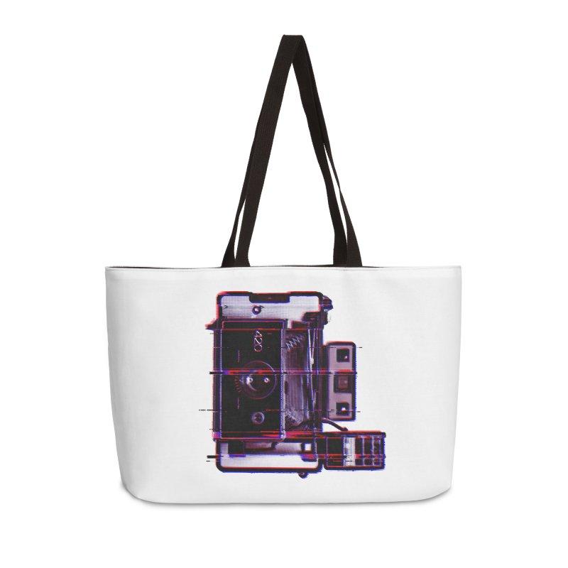 CAMERA GLITCH Accessories Weekender Bag Bag by Dave Watkins