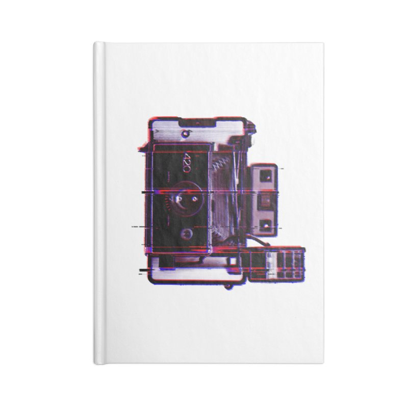 CAMERA GLITCH Accessories Lined Journal Notebook by Dave Watkins