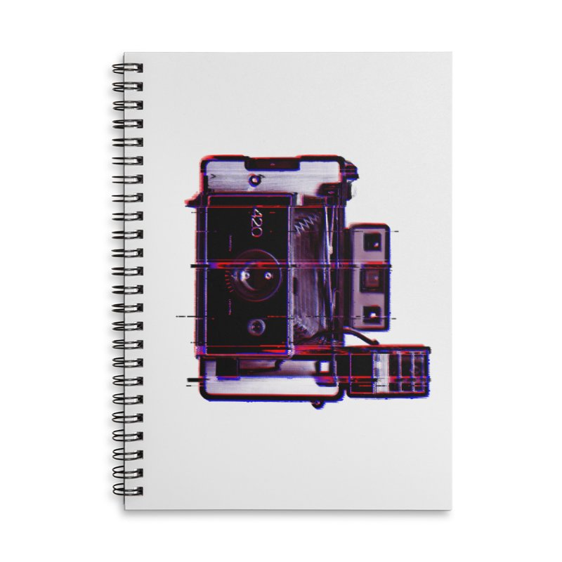 CAMERA GLITCH Accessories Lined Spiral Notebook by Dave Watkins