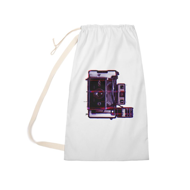 CAMERA GLITCH Accessories Laundry Bag Bag by Dave Watkins