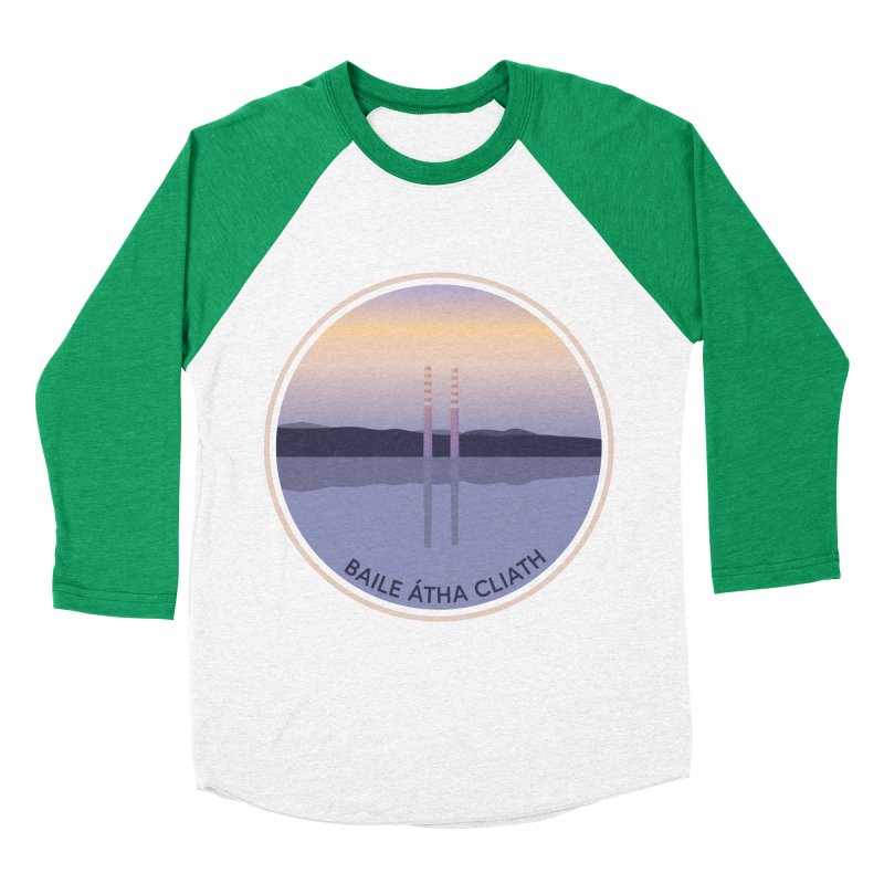 Dublin, Ireland Men's Baseball Triblend Longsleeve T-Shirt by Softwear