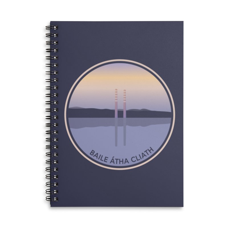 Dublin, Ireland Accessories Lined Spiral Notebook by Softwear