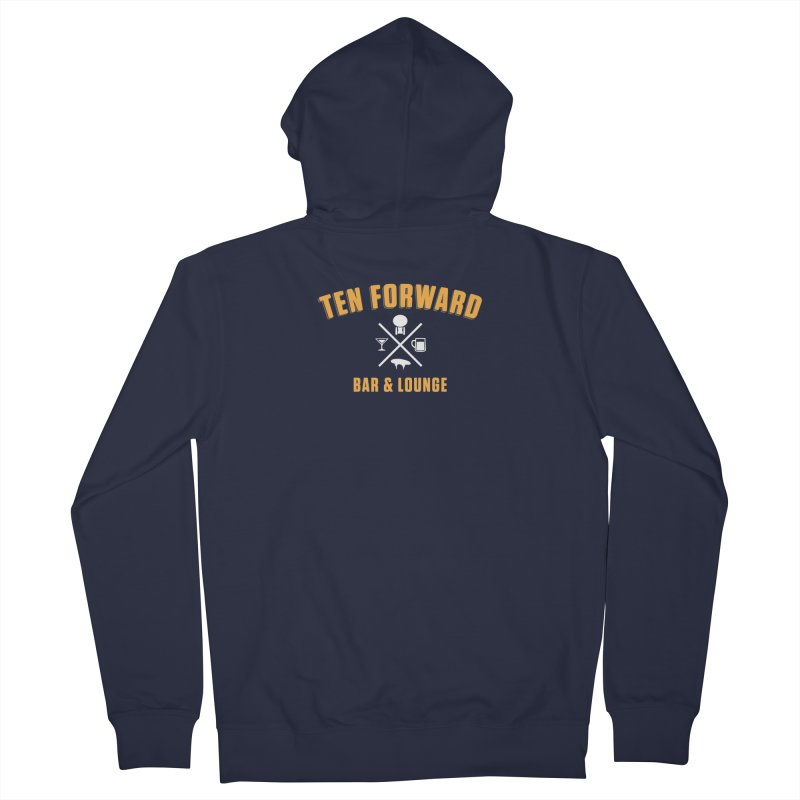 Ten Forward Bar & Lounge Men's French Terry Zip-Up Hoody by Softwear