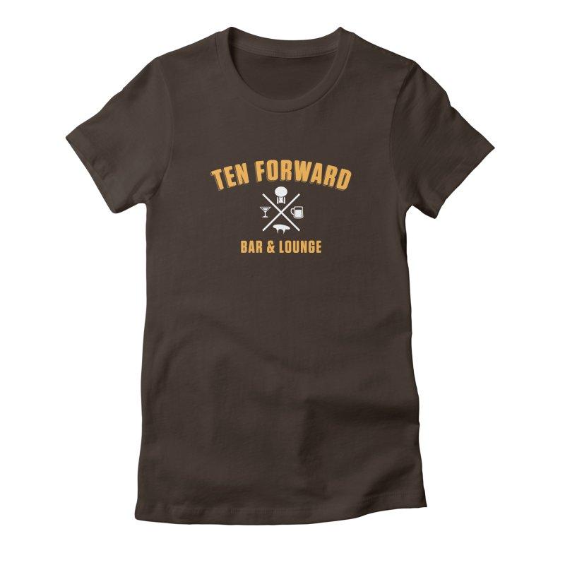Ten Forward Bar & Lounge Women's Fitted T-Shirt by Softwear