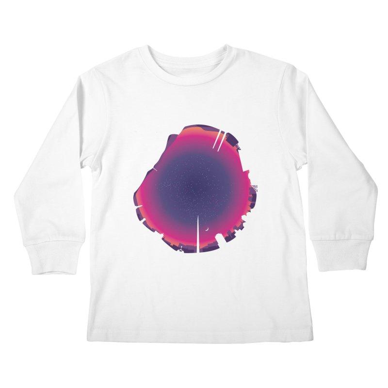 Starry Skied Dublin Kids Longsleeve T-Shirt by Softwear