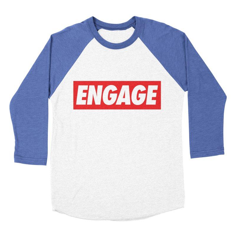 Engage. Men's Baseball Triblend Longsleeve T-Shirt by Softwear