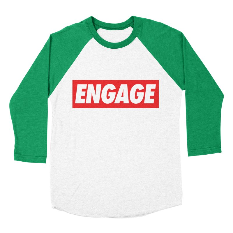 Engage. Men's Baseball Triblend Longsleeve T-Shirt by Softwear
